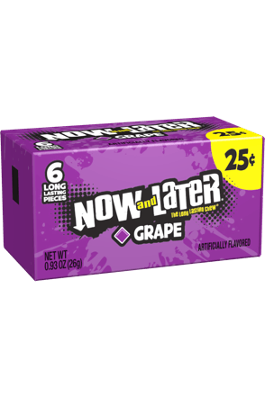 Now and Later Original Grape Candy