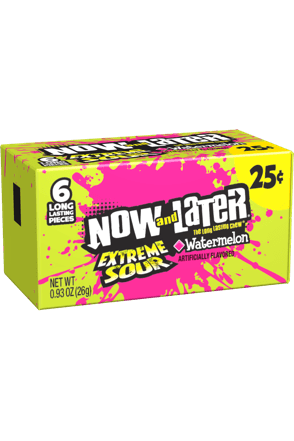 Now and Later Candy Extreme Sour Watermelon