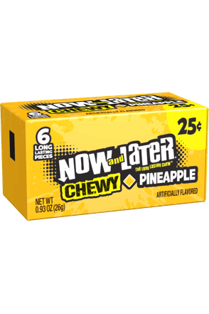 Now and Later Pineapple Chewy Candy