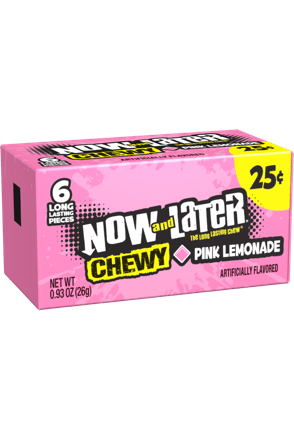 Now and Later Pink Lemonade Chewy Candy