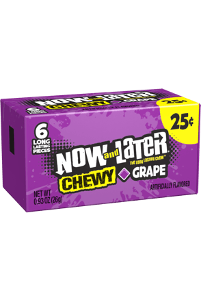 Now and Later Grape Chewy Candy